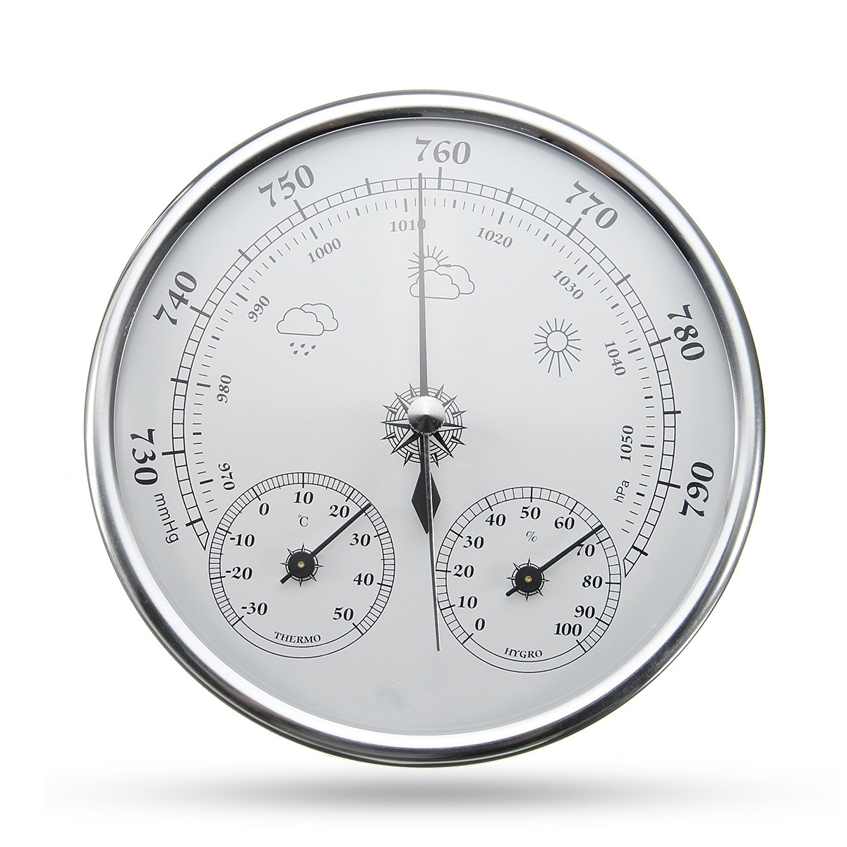 INNI Wall Hanging Weather Forecast Thermometer Hygrometer Air Pressure Meter-30~+50 0~100% Rh 960~1060hPa