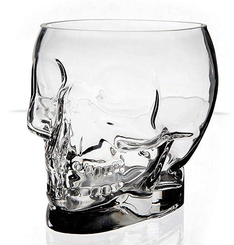 Jay - Cuenco (cristal), diseño con forma de calavera, transparente