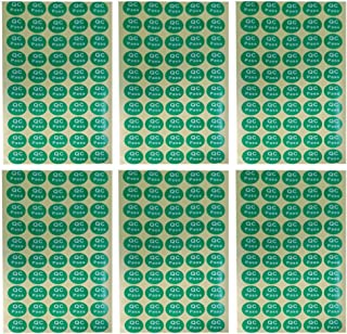 TOYANDONA 20 Sheets QC Pass Label Stickers Round Adhesive QC Stickers 20mm