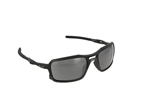 Oakley Men's (a) Triggerman OO9314-01 Rectangular Sunglasses, Matte Black, 58.5 mm