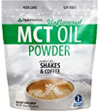 MCT Oil Powder - Delicious Creamer for Coffee, Tea, Smoothie, Recipe - Perfect Supplement for Keto, Ketogenic Diet - Powdered for Easy Digestion - Energy for Exercise, Workout, or Travel - 6 oz
