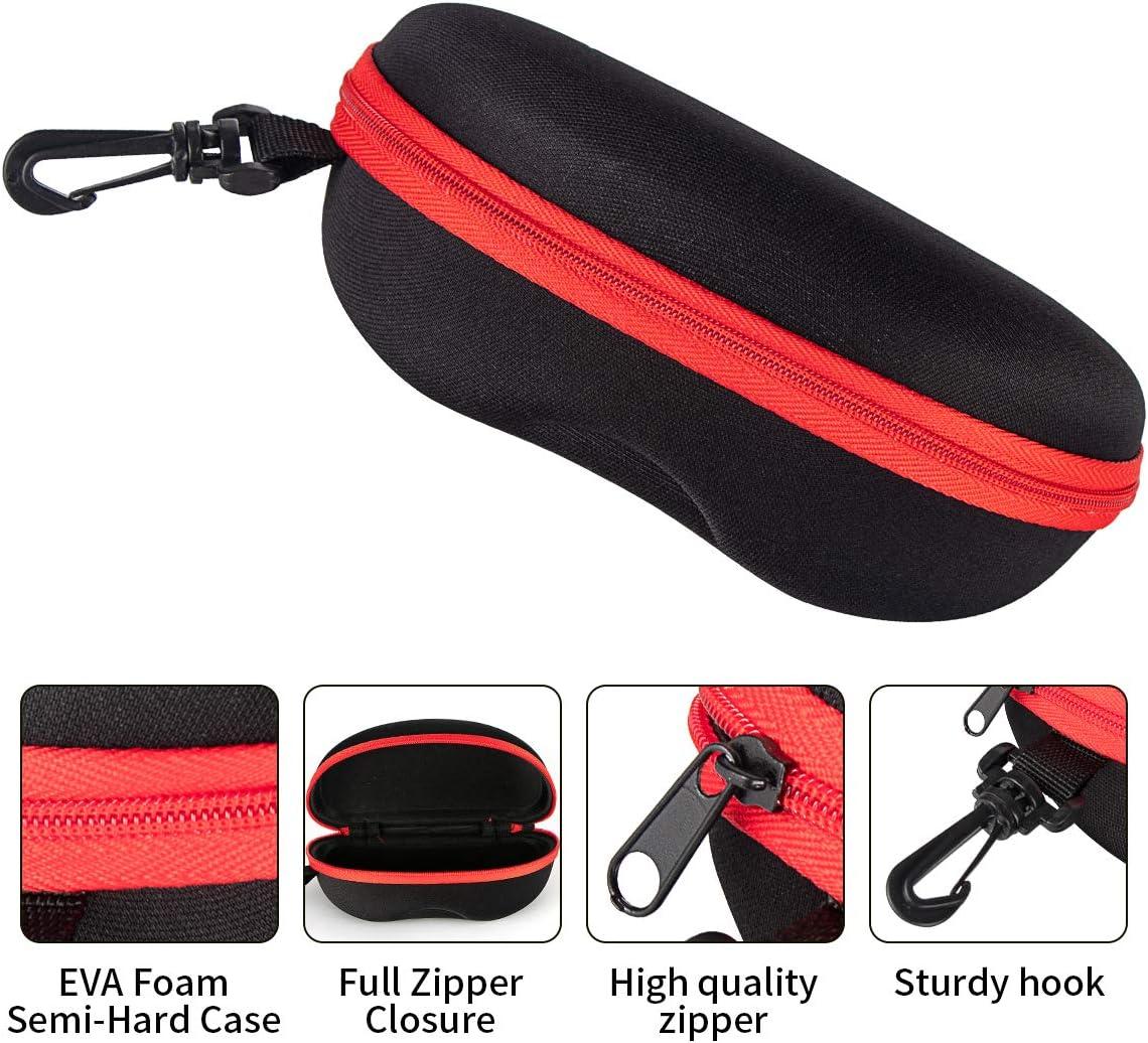Clip Plastic Carabiner Hook FF1 Zipper Shell Sunglasses Glasses Case with Belt Loop