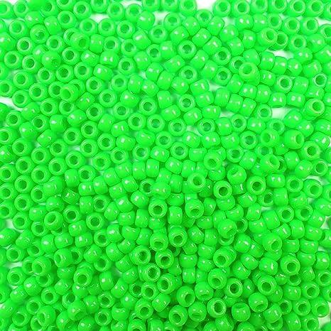 Pony Beads 6mmx9mm 1,000//pkg-opaque Green