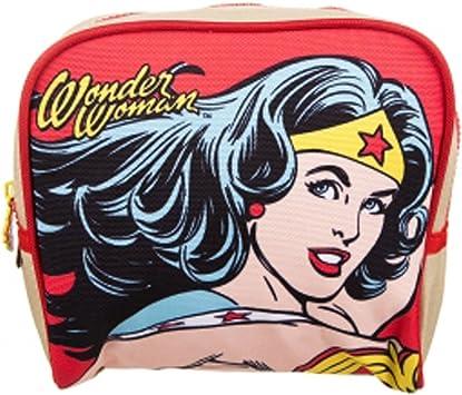 Wonder Woman - Bolsa de aseo multicolor rojo: Amazon.es: Equipaje