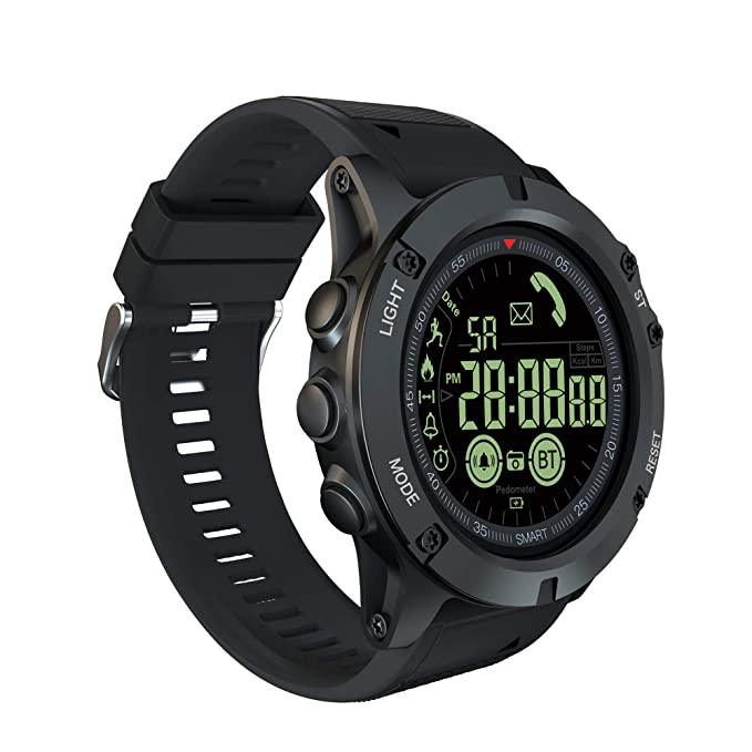 Sport Smart Watch, TINICR Men Sports Smartwatch with Pedometer, Calorie Counter, Distance, Remote Camera, Call & Message Reminder IP68 Waterproof ...
