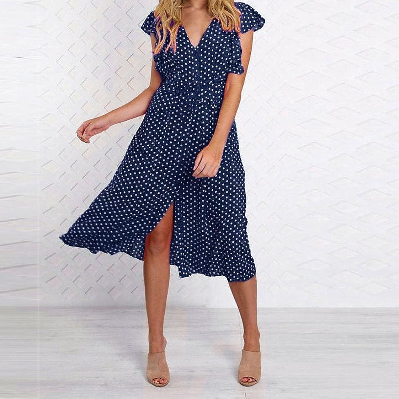 Amazon.com: Teresamoon Womens 50s Vintage Polka Dots Print Swing Long Maxi Dress: Clothing