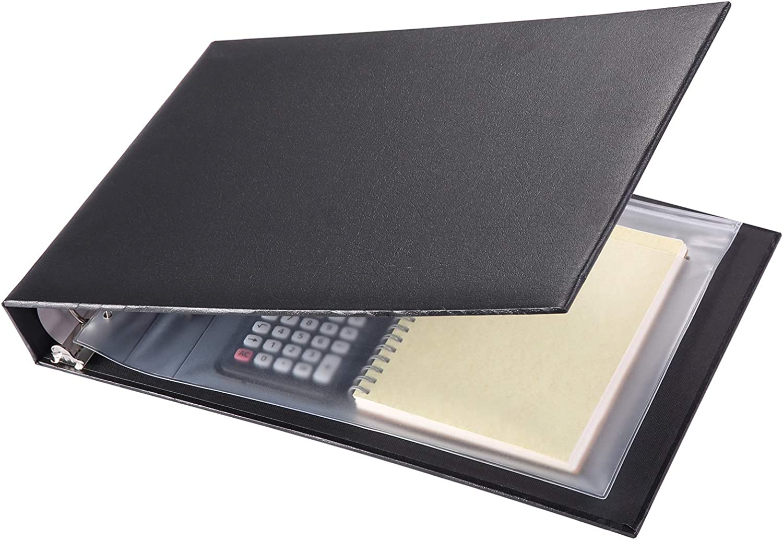 7 Ring Check Binder, 3-On-A-Page Business Checkbook Holder, 500 Checks Capacity, with 2017-2021 Calendar Organizer, Sleek Business Design
