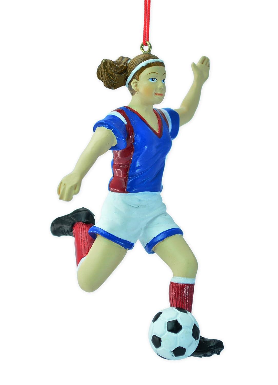Football player ornament - Amazon Com Girl Soccer Player Christmas Ornament 4 75 Home Kitchen