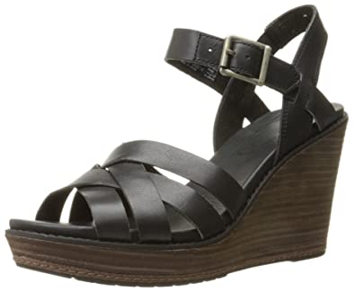 Timberland Women's Danforth Woven Wedge Sandal, Black, ...