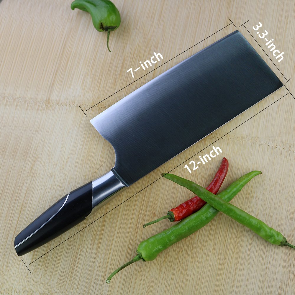KOFERY 7-Inch High Carbon Stainless Steel Professional Meat Chopper Cleaver Kitchen Knife