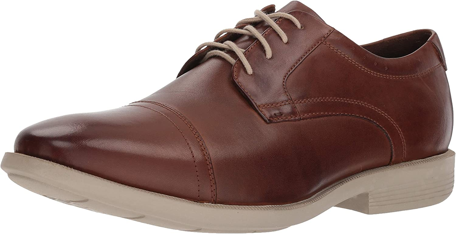 Nunn Bush Men's Dixon Cap Toe Lace Up Oxford with Kore Comfort Walking Technology