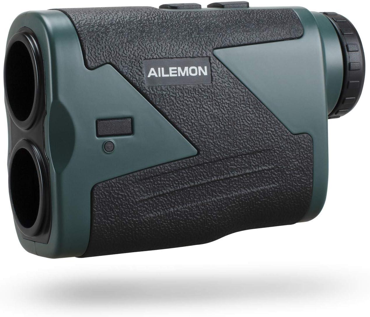 AILEMON Laser Golf/Hunting Range Finder 1000/1200 Yards 6X Magnification USB Charging Laser Rangefinder