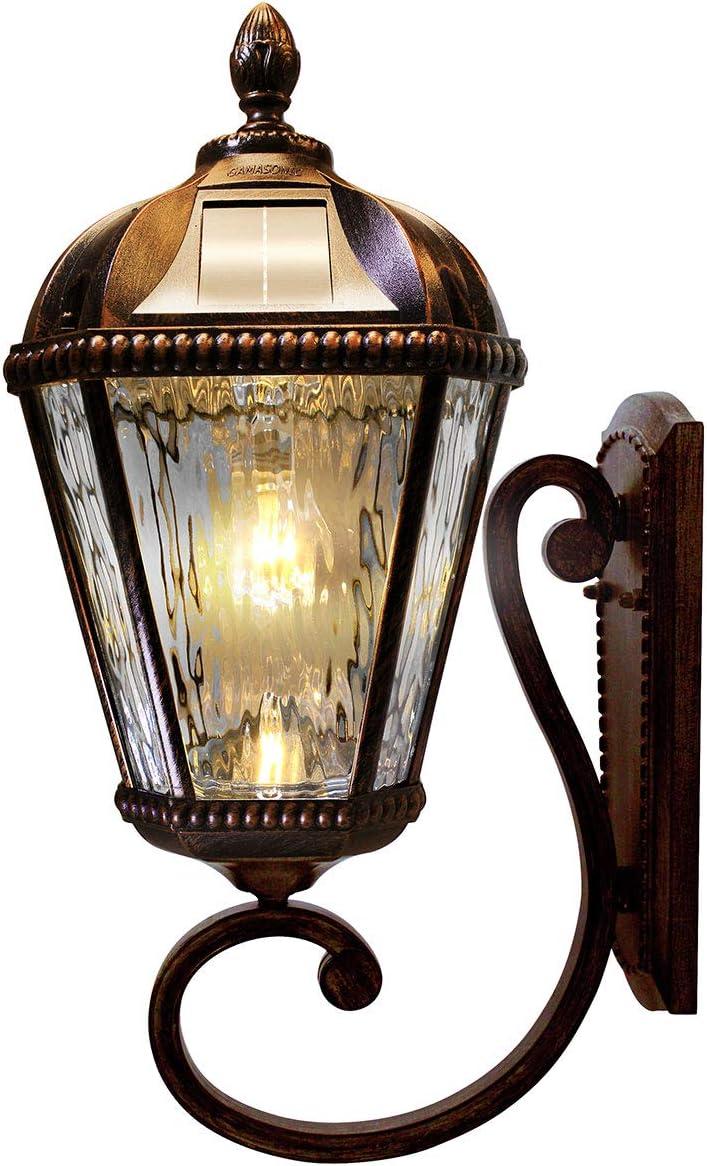 Royal Bulb Solar Light, GS Light Bulb, Wall Mount, Bronze GS-98B-W-BB