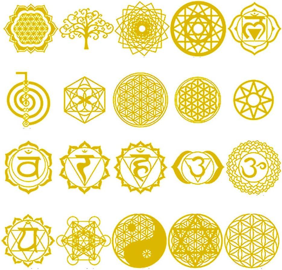 YO-HAPPY 20 Pcs Orgonite De Cuivre Autocollant Arbre Vie /Énergie Tour Pyramide /Époxy R/ésine Artisanat