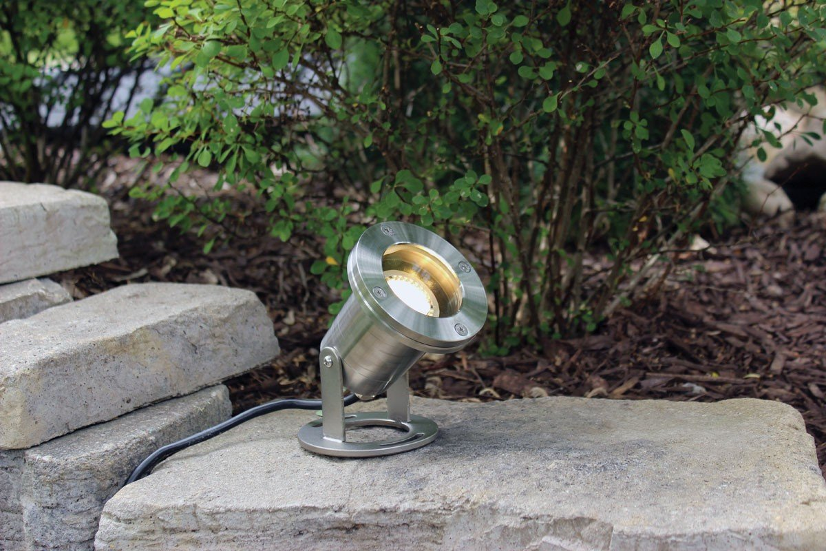 EasyPro Pond Products LED6WS LED Submersible Warm White Stainless Steel Light, 6W