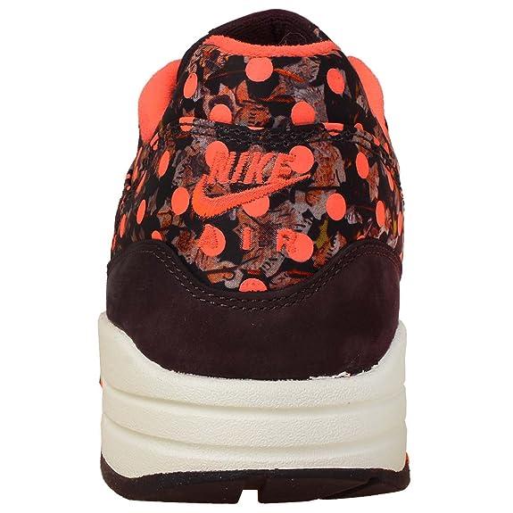 Amazon.com | Nike Womens Wmns Air Max 1 LIB QS, DEEP BURGUNDY/DP BRGNDY-BRIGHT MANGO, 9 US | Shoes