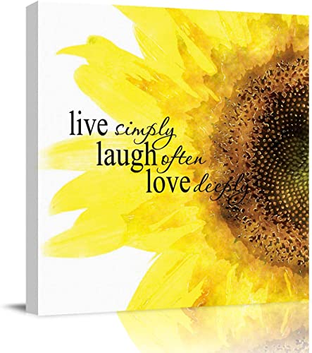 Wall Art Canvas Paintings Quote Live Simply Laugh Often Love Deeply