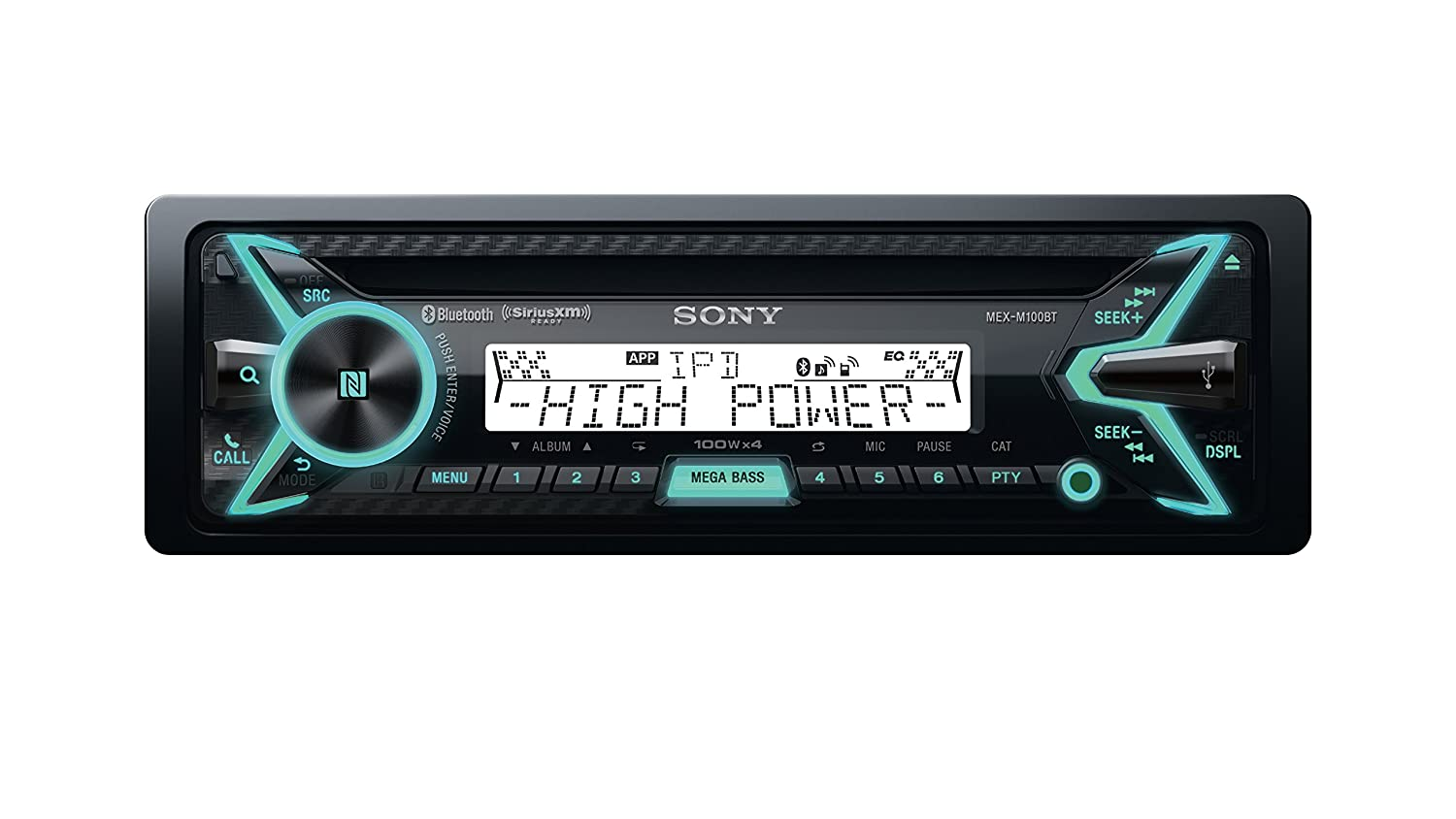 Sony Mexm100bt 160w Rms Marine Cd Receiver With Kicker Bass Station Wiring Harness Bluetooth Black And Siriusxm Ready Car Electronics