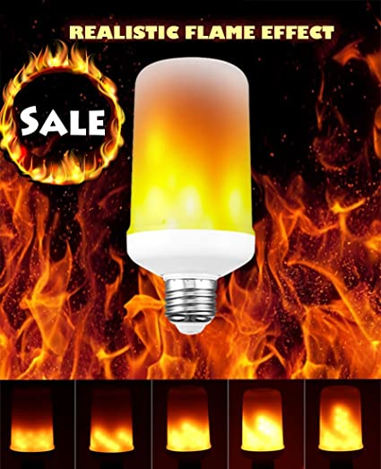 Led Flame Effect.Led Flame Light Bulb Flicker Flame Light Bulb Simulated Burning Fire Effect Lights With Flickering Emulation Atmosphere Decorative Light Bulb For