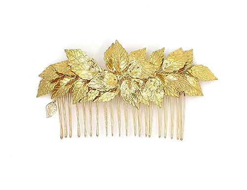 Diosa hoja de oro Tiara peine - novia boda clip de pelo peines griego  diadema para accesorios para el pelo  Amazon.es  Joyería 899928585e4f