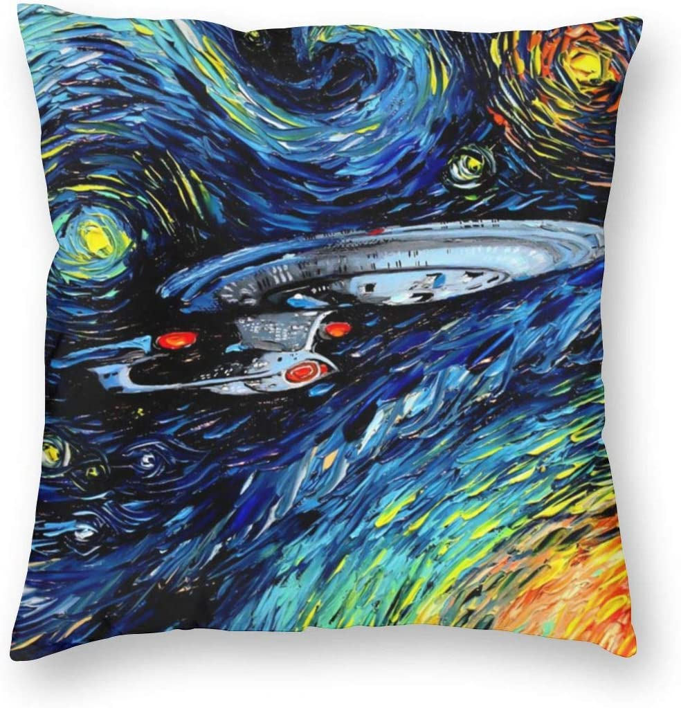 ~ Star Trek Oil Painting Art Pillow Case Cushion Cover for Office Holidays Halloween Fall Home Decorative Throw Pillow Covers 18x18 Inch