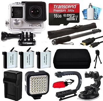 GoPro Hero4 Silver Edition cámara 4 K Acción con tarjeta ...