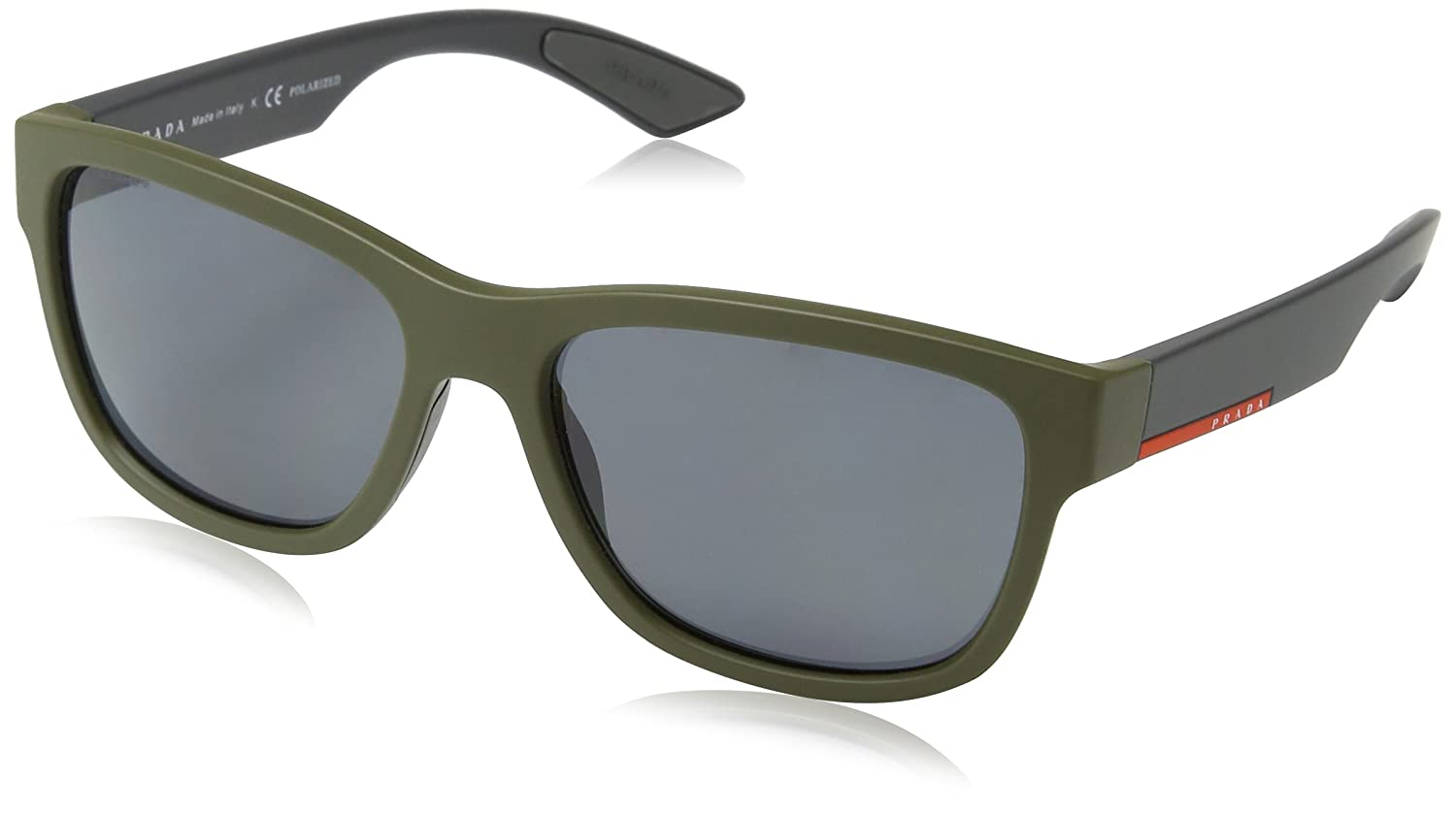 Prada Linea Rossa PS 3QS UBW5Z1 Sunglasses Green Rubber