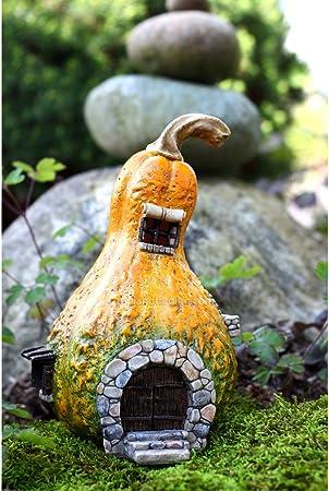 Casa de hadas jardín de hadas en miniatura con la luz de calabaza: Amazon.es: Hogar