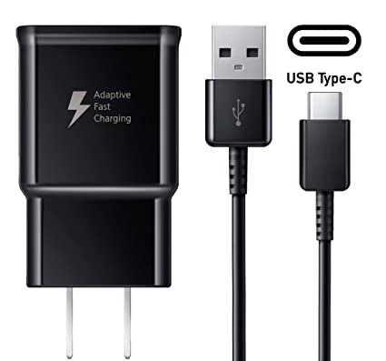 Adaptive Fast Charger Galaxy S10+ S10e Compatible 5 ft Type C (Wall Charger+Type C USB Cable) Compatible with Samsung Galaxy S8 /S8+ /S9 /s9+ /S10e ...