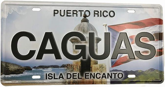 PUERTO RICO Flag Boriken License Plate