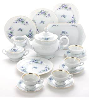 5d56d49838d Amazon.com | Tea With Grace Rose Garden Fine China Tea Set for Four ...