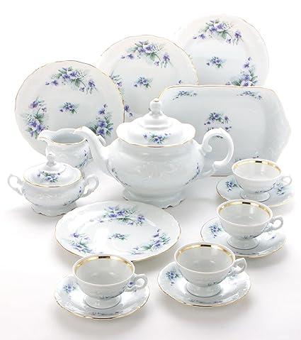 Amazoncom Wawel Tea With Grace 16 Piece Fine China Tea Set For