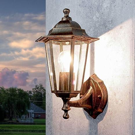 Wand Edelstahl Außen Lampe Leuchte Landhaus Stil Beleuchtung Garten Hof Terrasse
