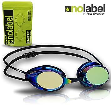 2fd2980dc90 NO LABEL Black Swimming Goggles - Competition Swim Goggles With Anti Fog UV  Lenses - Mens