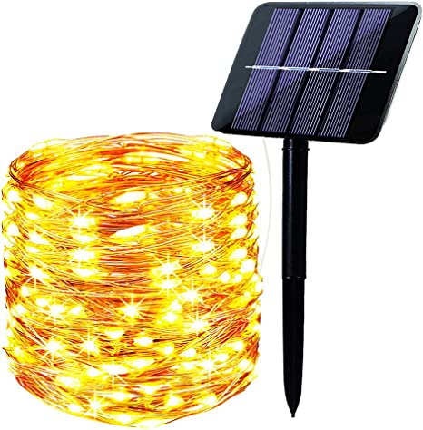 Details about  /200 LED Solar Fairy String Light 78.7/'/' Copper Wire Outdoor Garden  Waterproof