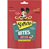 Schmackos Tasty Bites Chewy Beef Dog Treats 6x155g Bag