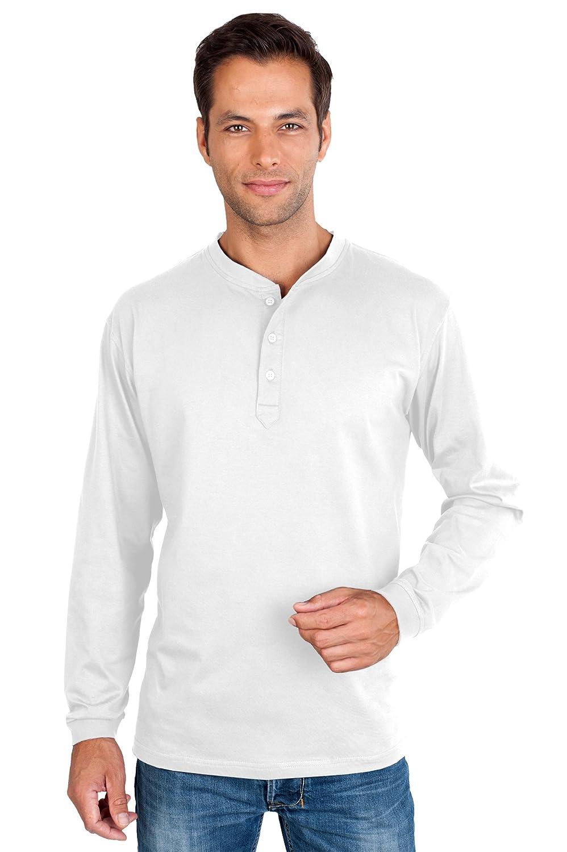 QUALITYSHIRTS Langarm Serafino Shirt mit Knopfleiste Gr. S - 6XL Baumwolle:  Amazon.de: Bekleidung