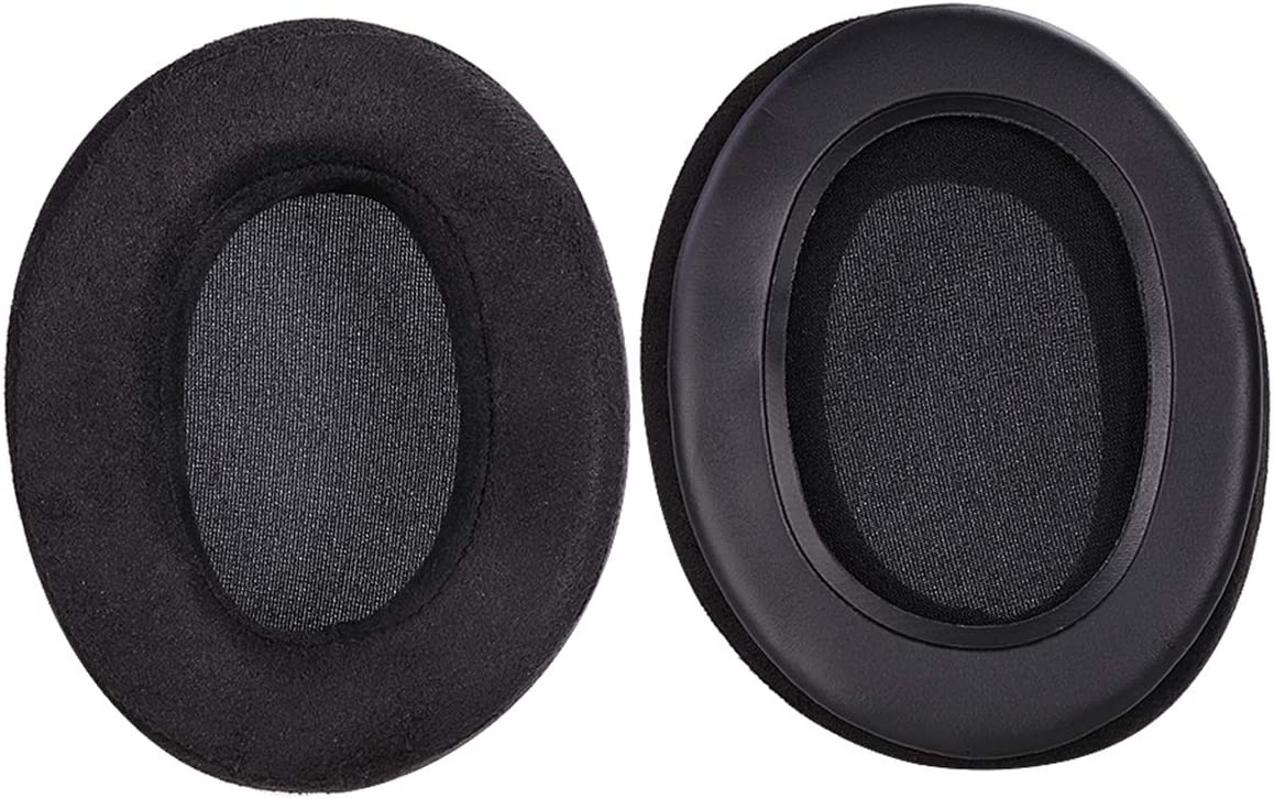 Gesongzhe Ear Pads for Brainwavz HM5 ATH-M50X SHURE AKG HifiMan ATH Philips Over Ear Headphone Covers Earpads Replacement Microsuede Pads Memory Foam Earpads Black