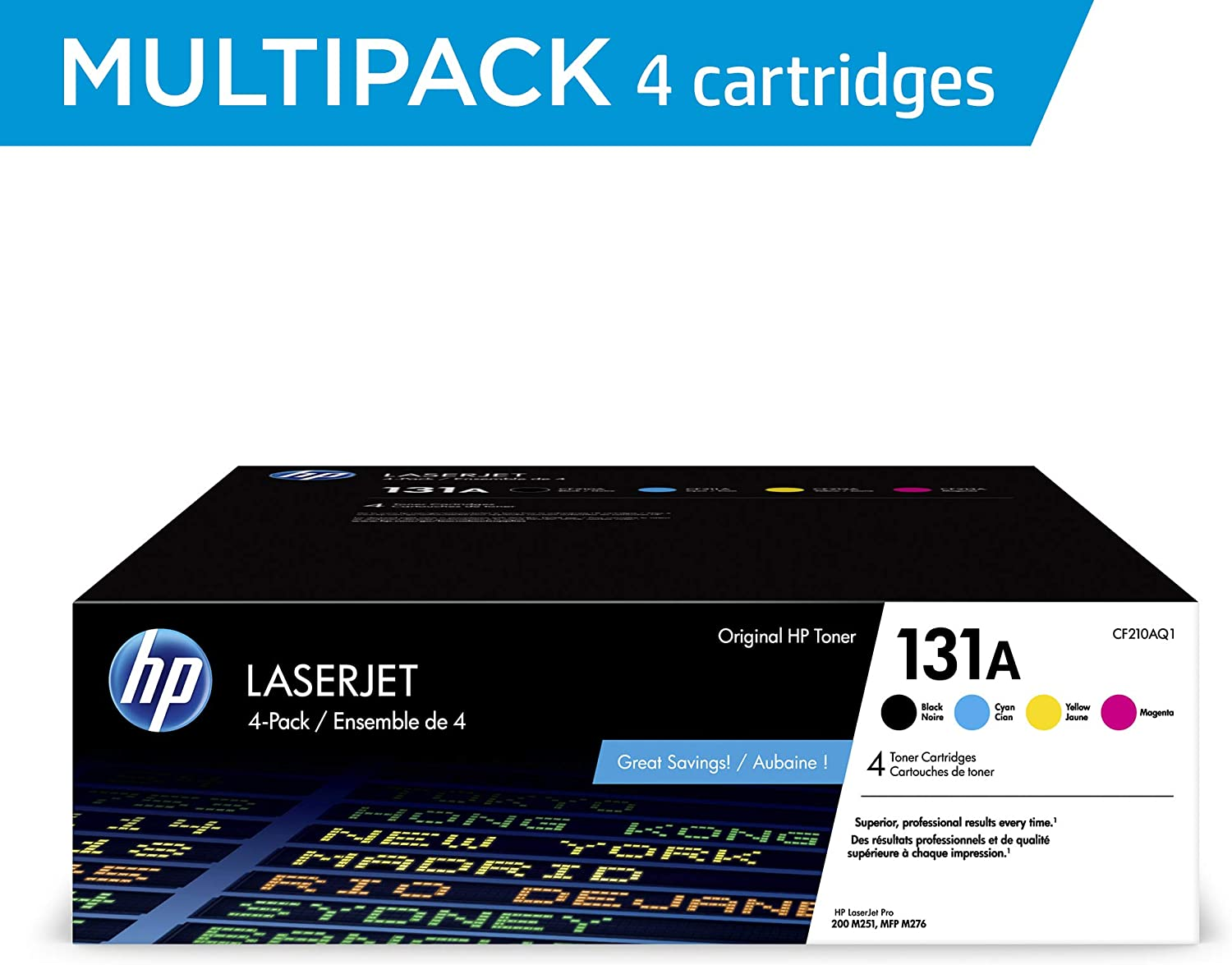 HP 131A | CF210AQ1 | 4 Toner Cartridges | Black, Cyan, Magenta, Yellow
