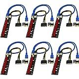 FebSmart PCI-E Riser for Bitcoin Litecoin ETH Coin Mining 6 PIN Powered PCIE Extension Cable GPU Riser Ethereum Mining ETH GP