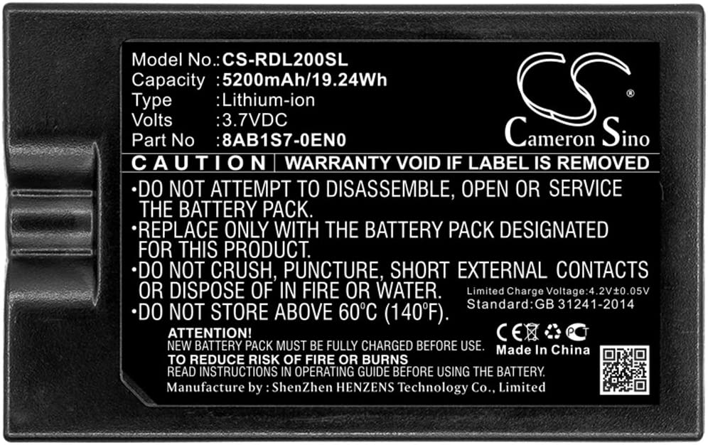 Cameron Sino Replacement Battery for Ring Home Security Camera 8VR1S7,Spotlight Cam,Video Doorbell 2