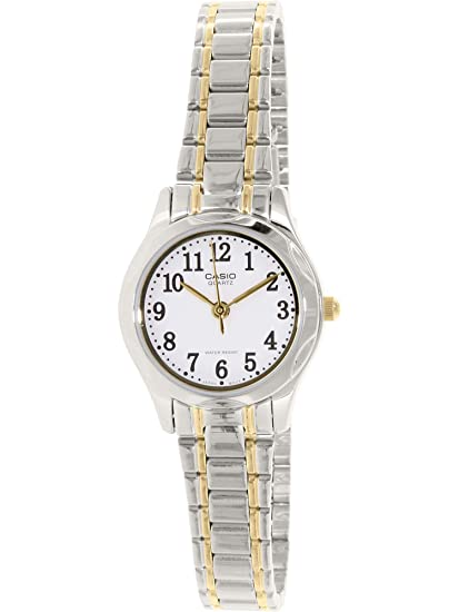 6f2f66fef039 CASIO 19281 LTP-1275SG-7B - Reloj Señora Cuarzo Brazalete metálico dial  Blanco  Casio  Amazon.es  Relojes