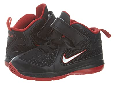 Nike Lebron 9 Toddler Basketball Shoes 4C Black White Red 472663-001 9d2a52624