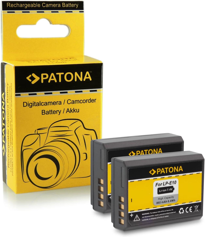 2x Batería LP-E10 para Canon EOS 1100D / EOS Rebel T3: Amazon.es ...