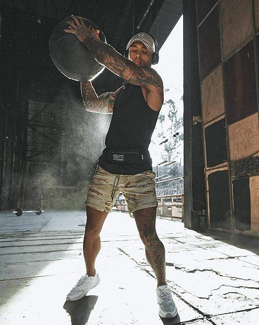 JIANYE Pantal/ón Corto para Hombre,Pantalones Cortos Deportivos para Correr 2 en 1 para Hombres Secado r/ápido Transpirable con Forro de Bolsillo Incorporado