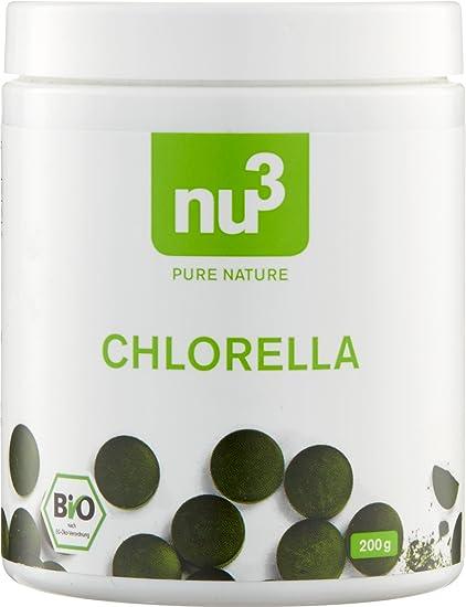nu3 Chlorella orgánico I 500 tabletas con extracto natural de micro algas I Gran porcentaje de ...