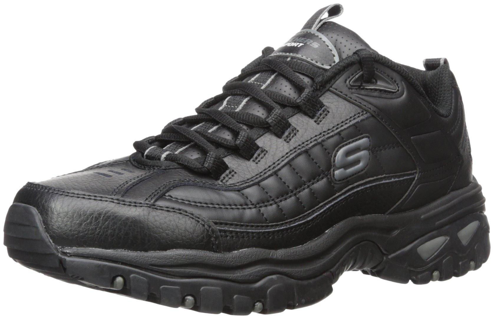 Skechers Sport Men's Energy Afterburn Lace-Up Sneaker,Black,13 M