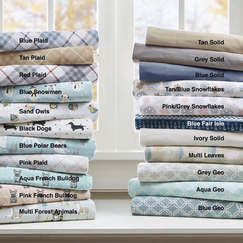 True North by Sleep Philosophy Cozy Flannel Sheet Set Multi Forest Animals Queen by True North by Sleep Philosophy (Image #2)