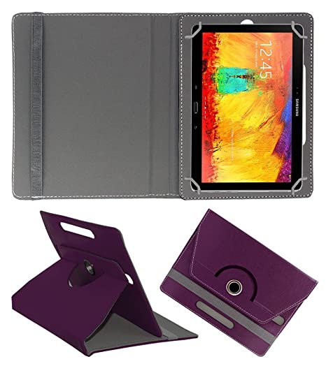 ACM Rotating 360 Leather FLIP CASE Compatible with Samsung Galaxy Note 10.1 P6010 Tablet Stand Cover Holder Purple