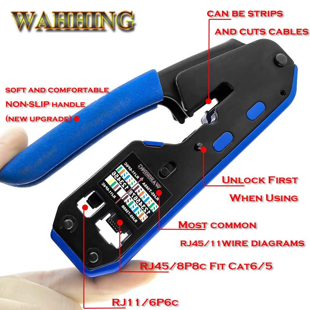 Rj45 Tool Network Crimper Crimping Tools For Cat6 Cat5e Cat5 Stp Cat 6 Phone Wiring Diagram Plugs Connector Cables Multifunctio Crimp